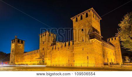 Castelvecchio Castle In Verona In The Evening