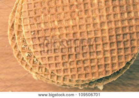 Stack Of Round Wafers