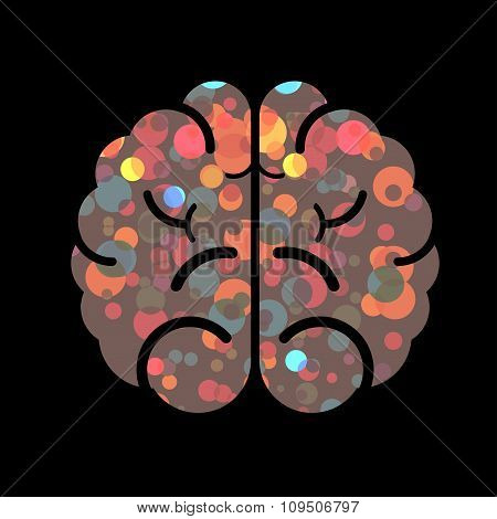 Abstract vector brain. Nice element for design