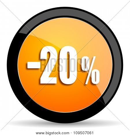 20 percent sale retail orange icon