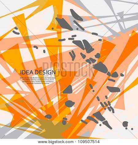 Abstract vector explosion. Dirty background for design