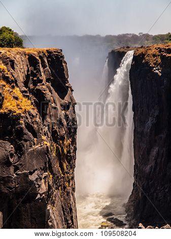 Majestic View Of Victoria Falls