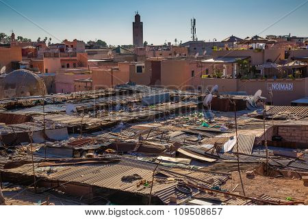 Roofs Souk In Marrakech