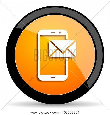 mail orange icon