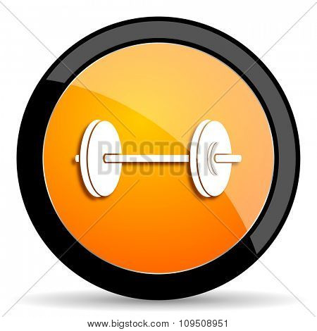 fitness orange icon