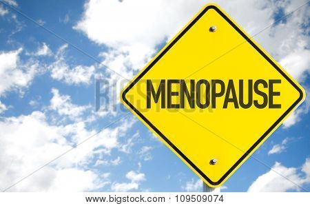 Menopause sign with sky background