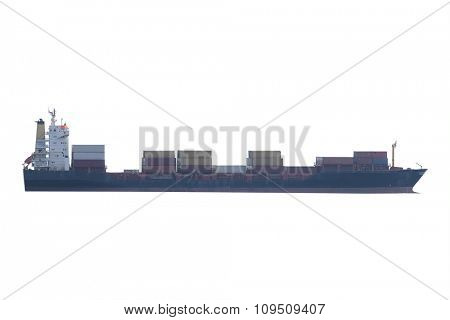 The image of a cargo ship