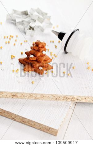 homemade gingerbread tree - sweet food