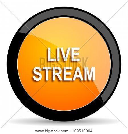live stream orange icon