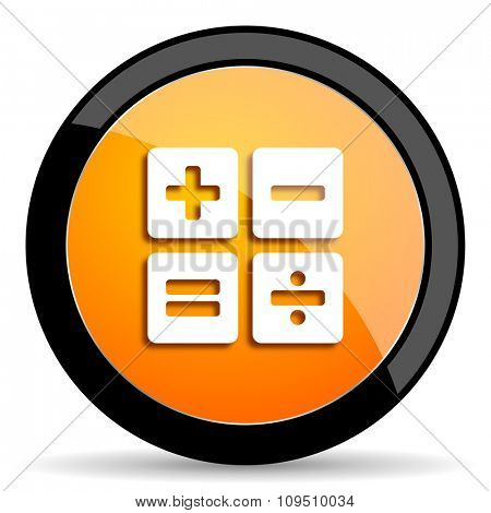 calculator orange icon