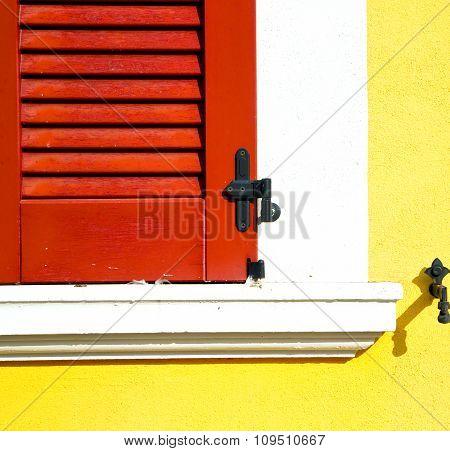 Red Window  Varano Borghi Palaces Italy   Abstract