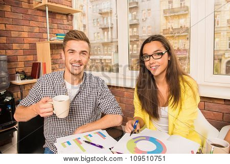 Young Couple Working With A Business Project