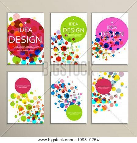 Vector background with color bubbles for your design