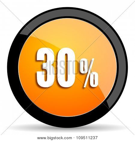 30 percent orange icon