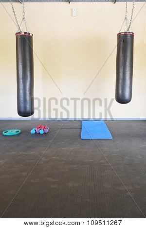 The image of a punching backs