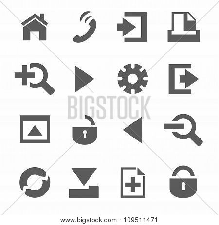 Internet And Toolbar Icons, M...