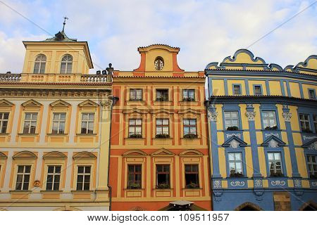 Colorful Buildings With Traditional Architecture, Old Town, Prague