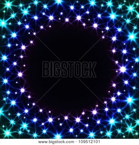 Shiny Colorful Frame with Stars