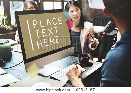 Computer Working Meeting Technology Commercial Copy Space Concept