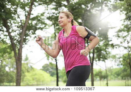 Exercising Healthy Jogging Wellness Relaxing Concept