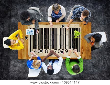 Bar Code Digital Information Purchasing Concept