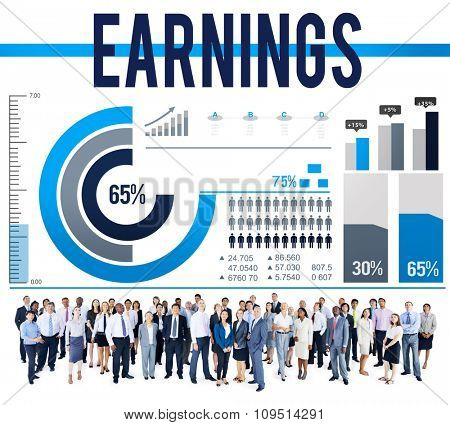Earning Income Profit Finance Economy Concept