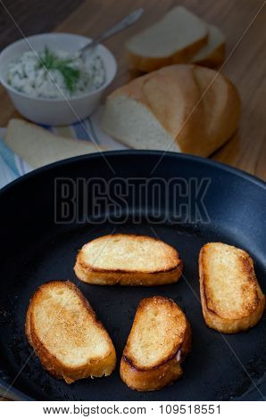Toasts In A Pan