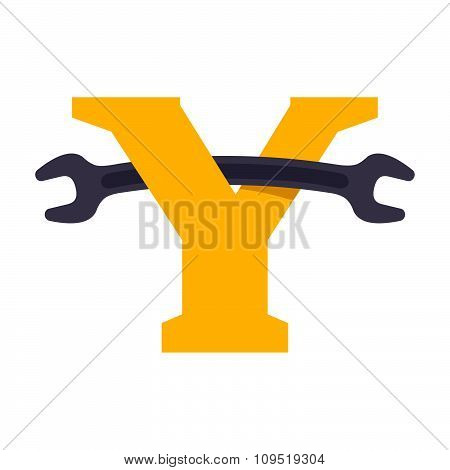 Y Letter With Wrench.