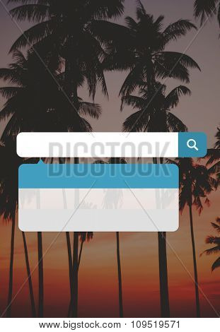 Tropical Beach Summer Paradise Twilight Concept