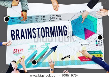 Brainstorming Planning Thinking Sharing Meeting Concept