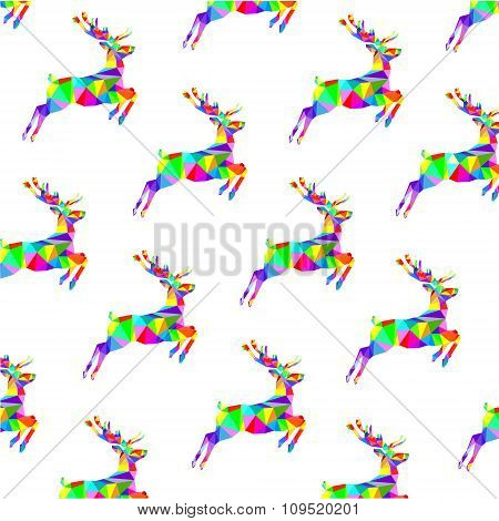 Background of graphic muticolored deer