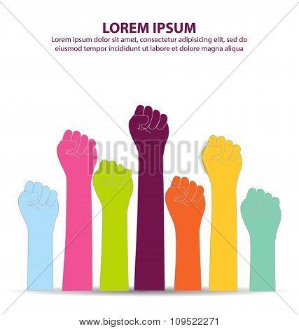 Creative Colorful Fist