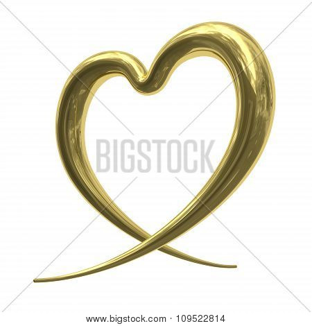 Abstract Golden Heart