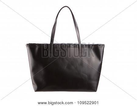 Black Handle Bag Isolated White Background