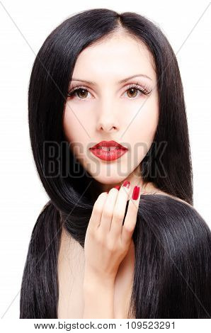 Portrait of a beautiful young groomed woman