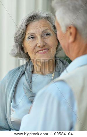 Elderly couple outdoor