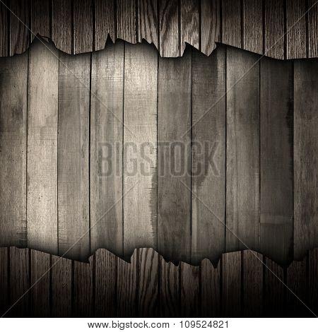 cracked wood plank background