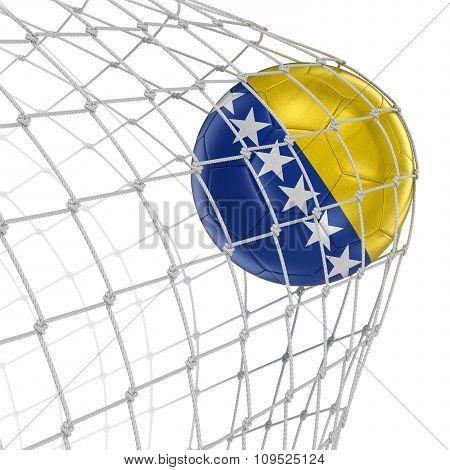Bosnia and Herzegovina soccerball in net
