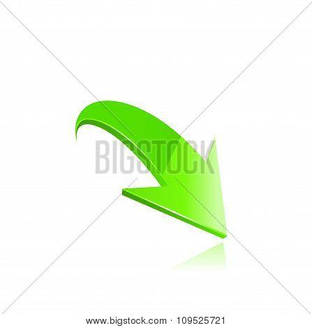 green arrow vector.