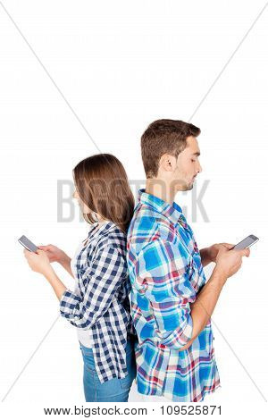 Couple In Love Ignoring Each Other