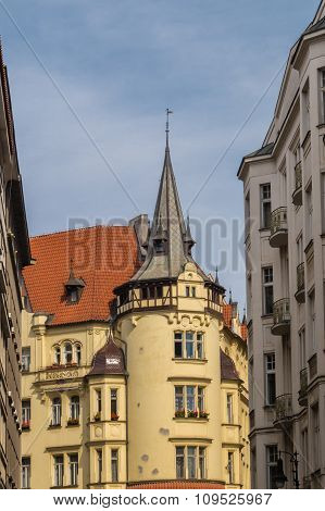 Houses In The Centre Of Prague Czech Republic