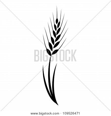Wheat grass green icon juice black. Logo, banner, frame for business, the store site for clean super