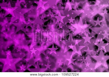 Pink Stars Background With Bokeh Effect