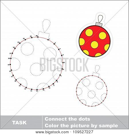 Glass ball to be traced. Vector numbers game.