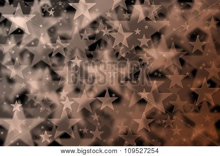 Brown Stars Background With Bokeh Effect
