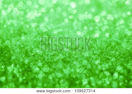 Abstract Green Crystal  Texture Background