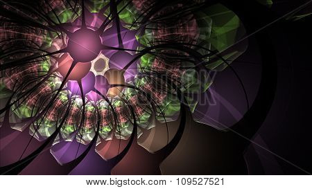 Abstract Fractal Spider Hole To Infinity