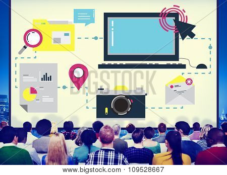 Digital Device Computer Connecting Internet Online Concept