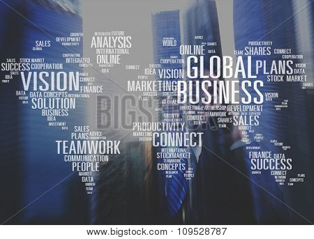 Global Business Cooperation Finanace Vision Plans Concept