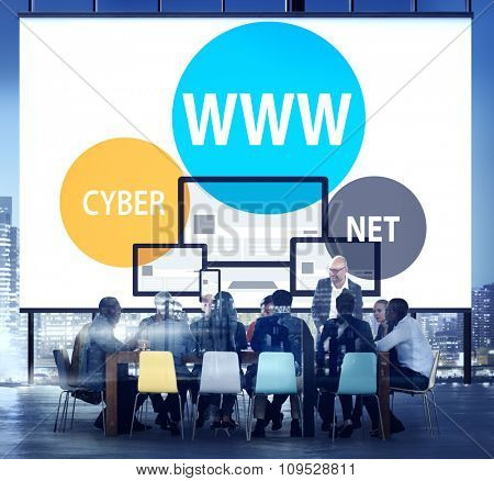 WWW Internet Online Global Communications Concept